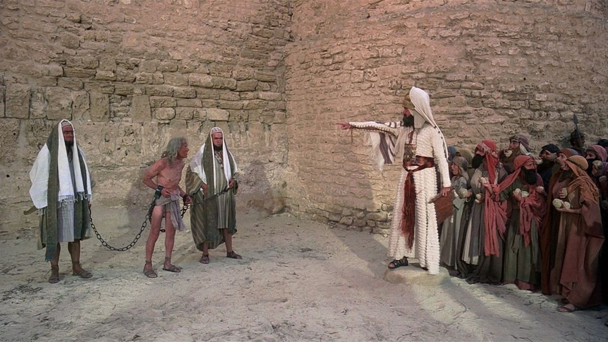 movies Monty Python Jerusalem stoned pointing Life of Brian wallpaper