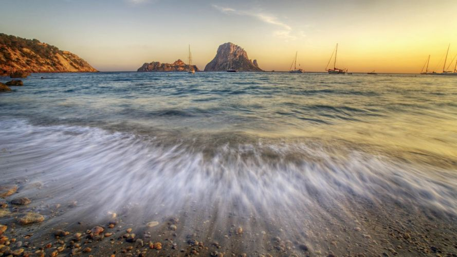 sunset Ibiza wallpaper