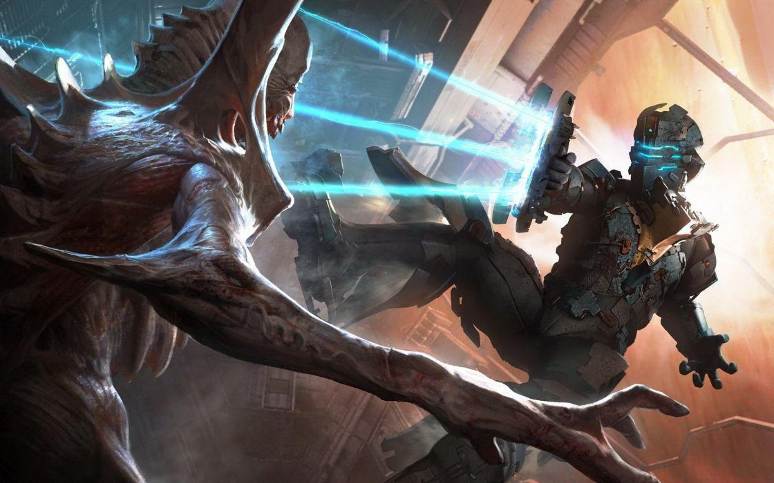 fantasy monsters Dead Space science fiction Dead Space 2 Aliens wallpaper