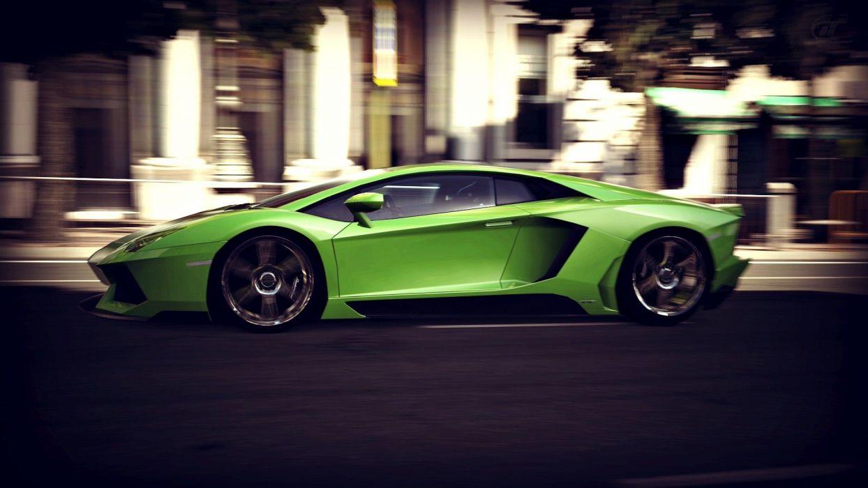 video games cars Lamborghini Lamborghini Aventador races wallpaper