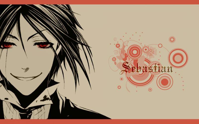 suit Kuroshitsuji Sebastian Michaelis red eyes anime anime boys butler black hair wallpaper