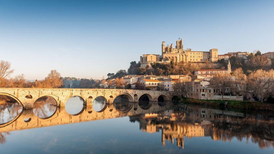 cityscapes bridges reflections wallpaper