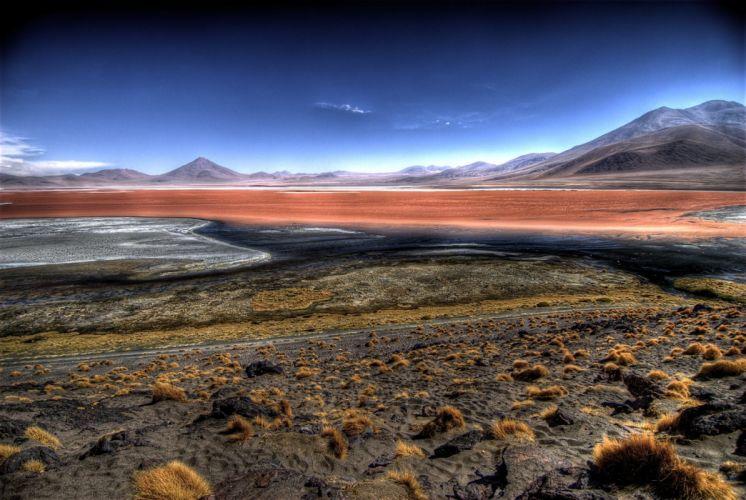 Laguna Colorada en Bolivia wallpaper