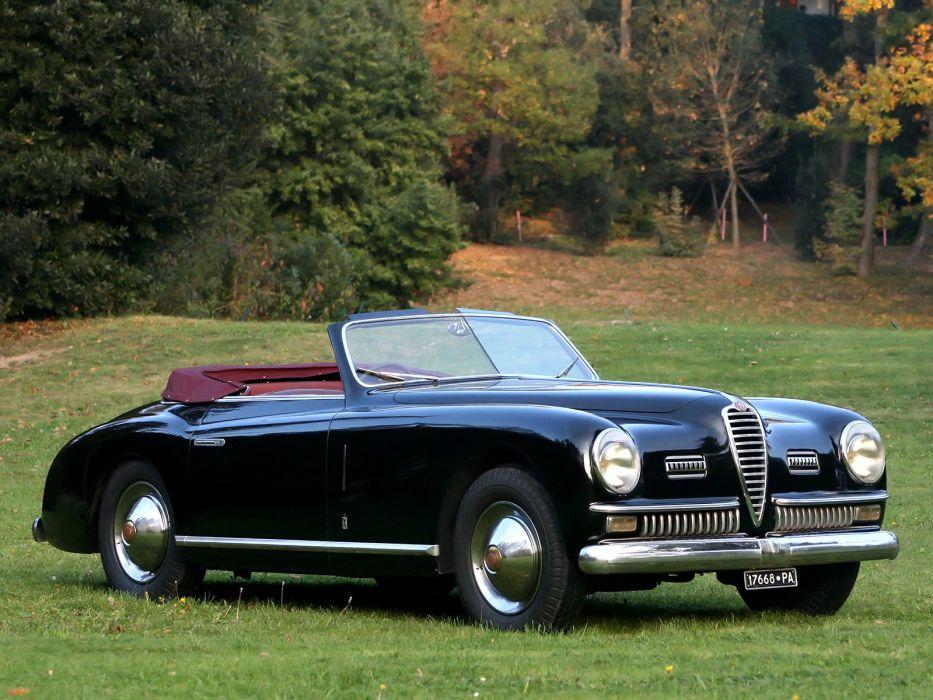 1947-51 Alfa Romeo 6-C 2500 S-S Cabriolet retro convertible  re wallpaper