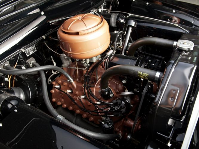 1950 Ford Custom DeLuxe Country Squire retro woody stationwagon engine h wallpaper