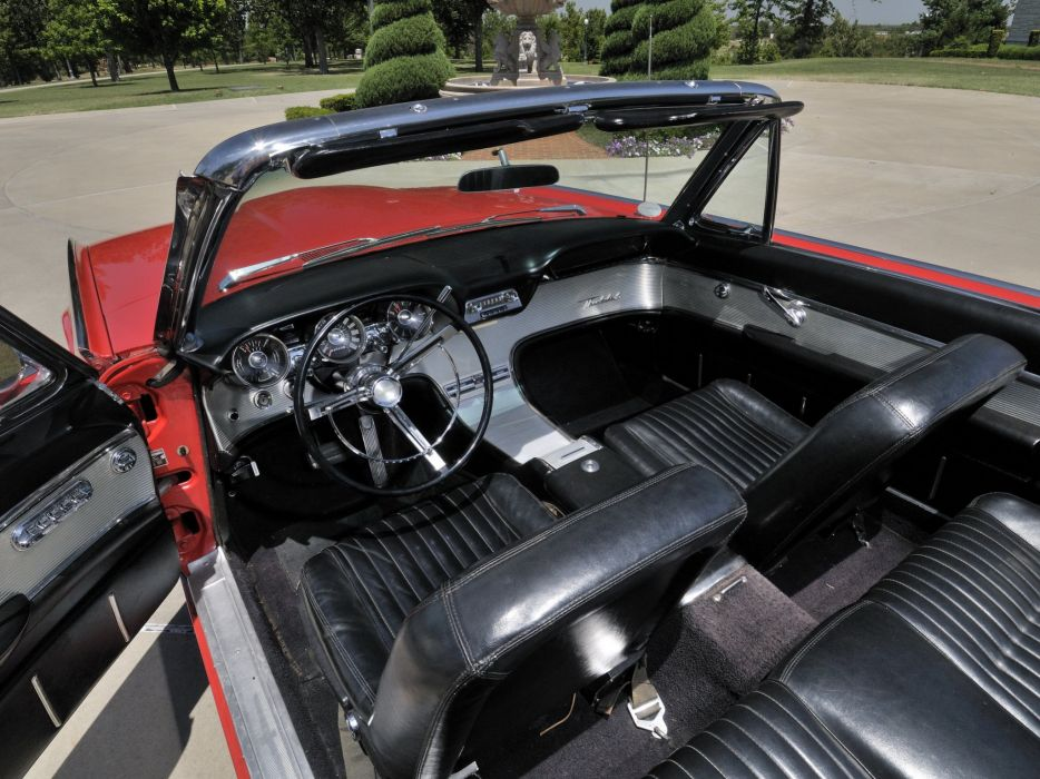 1962 Ford Thunderbird Sports Roadster classic 76b convertible luxury interior     g wallpaper