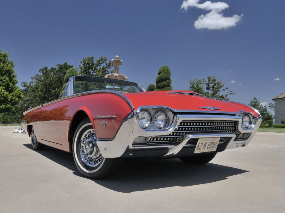 1962 Ford Thunderbird Sports Roadster classic 76b convertible luxury  j wallpaper
