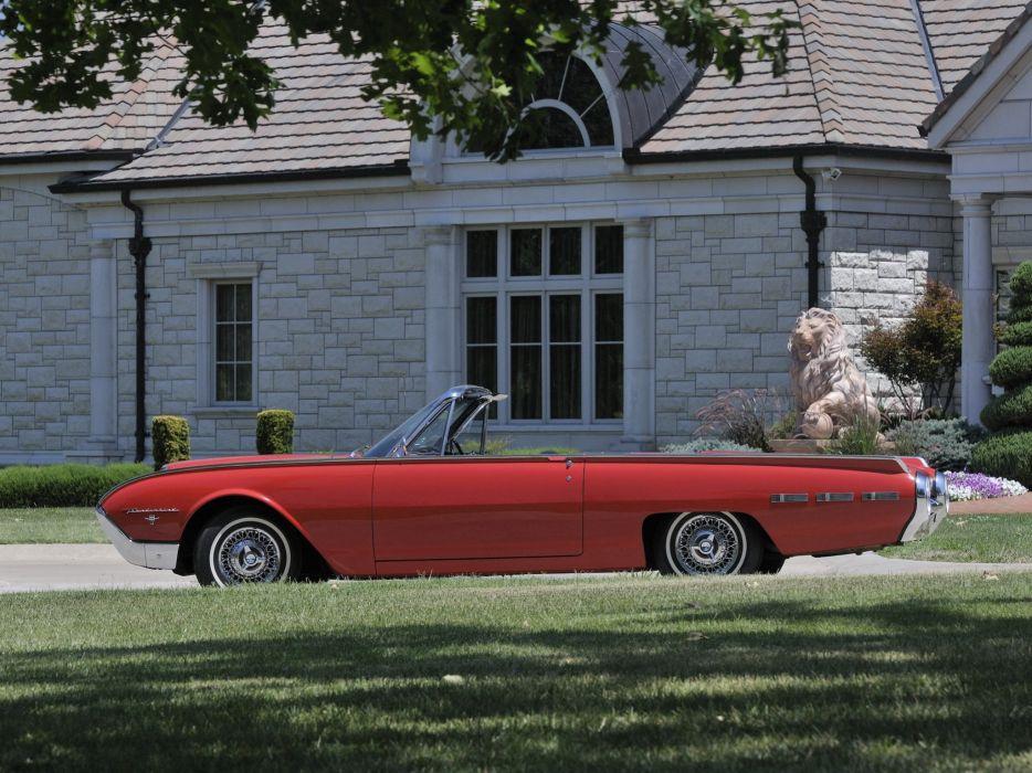 1962 Ford Thunderbird Sports Roadster classic 76b convertible luxury  hk wallpaper