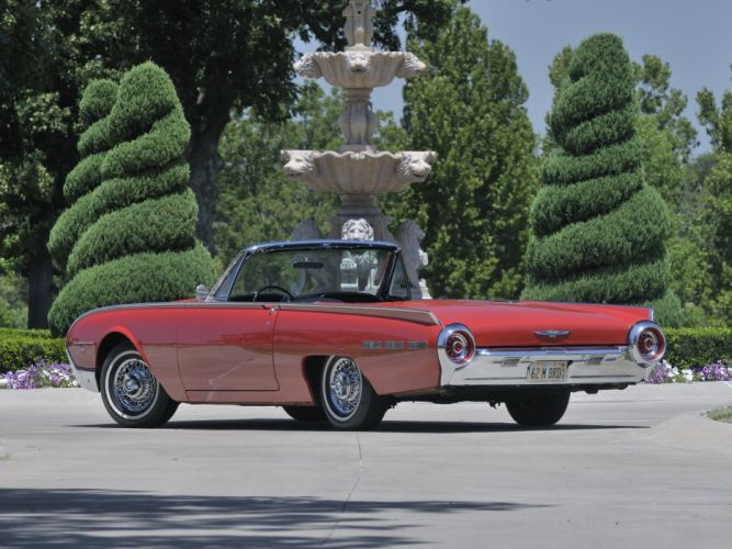 1962 Ford Thunderbird Sports Roadster classic 76b convertible luxury r wallpaper