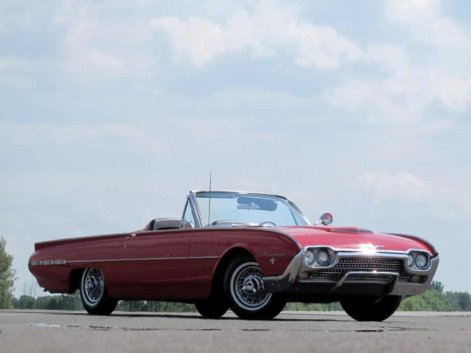 1962 Ford Thunderbird Sports Roadster classic 76b convertible luxury  h wallpaper