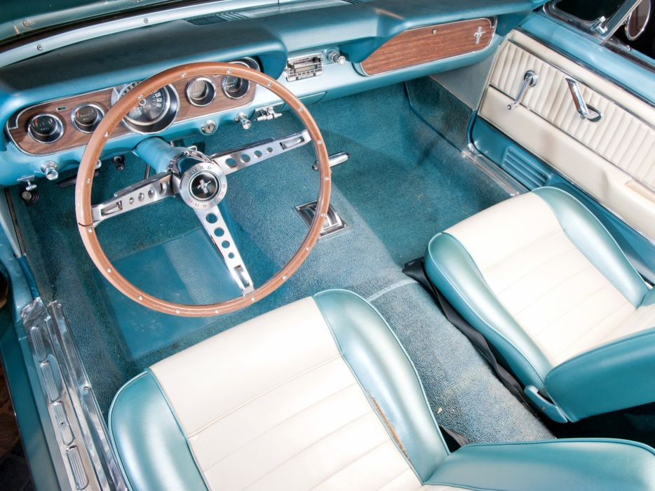 1966 Ford Mustang Convertible muscle classic interior  r wallpaper