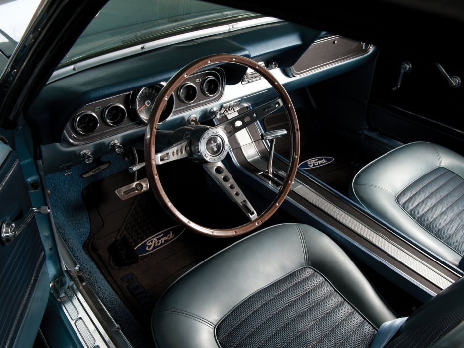 1966 Ford Mustang Convertible muscle classic interior       g wallpaper