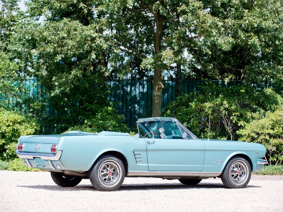 1966 Ford Mustang Convertible muscle classic  rw wallpaper