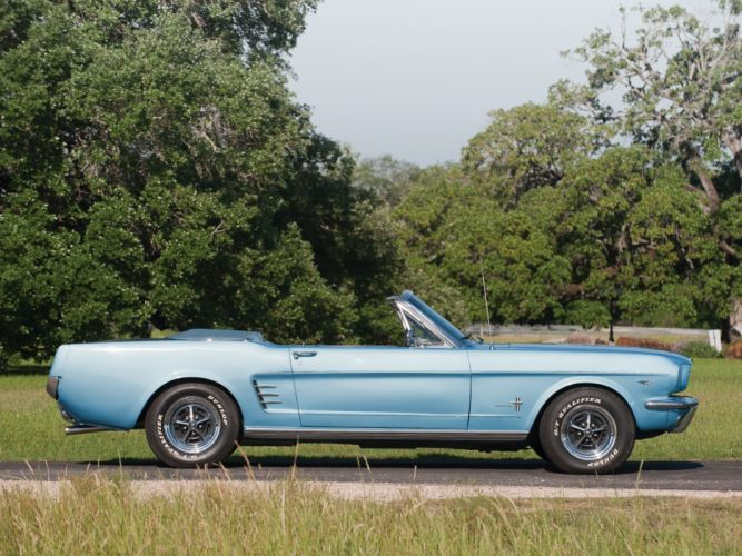 1966 Ford Mustang Convertible muscle classic re wallpaper