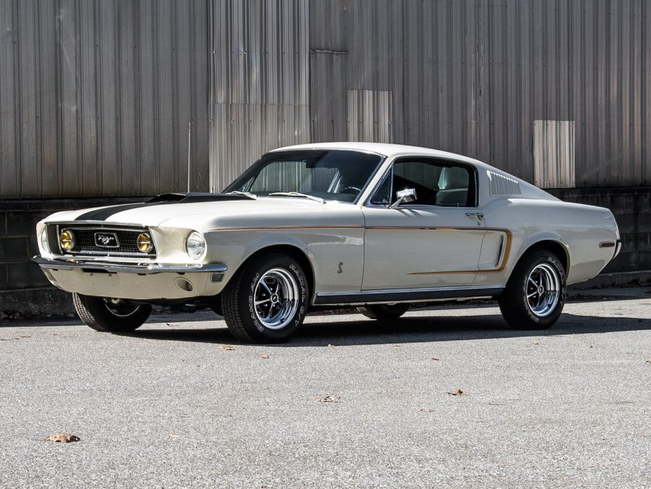 1968 Ford Mustang G-T 428 Cobra Jet Fastback muscle classic  hf wallpaper