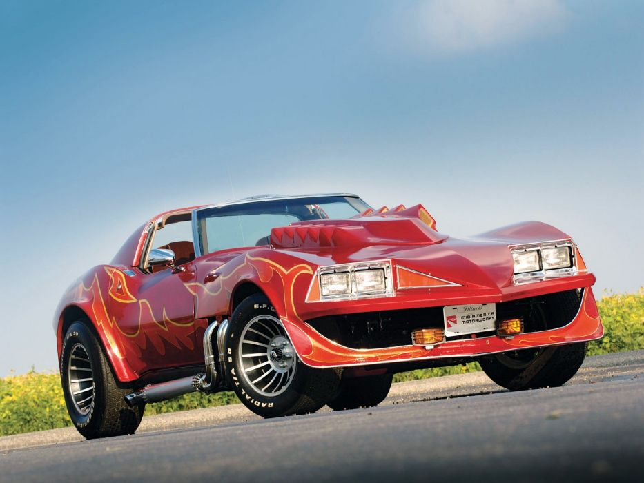 1978 Chevrolet Corvette Stingray Roadster Corvette-Summer (C3) movie film concept supercar muscle custom hot rod rods     f wallpaper