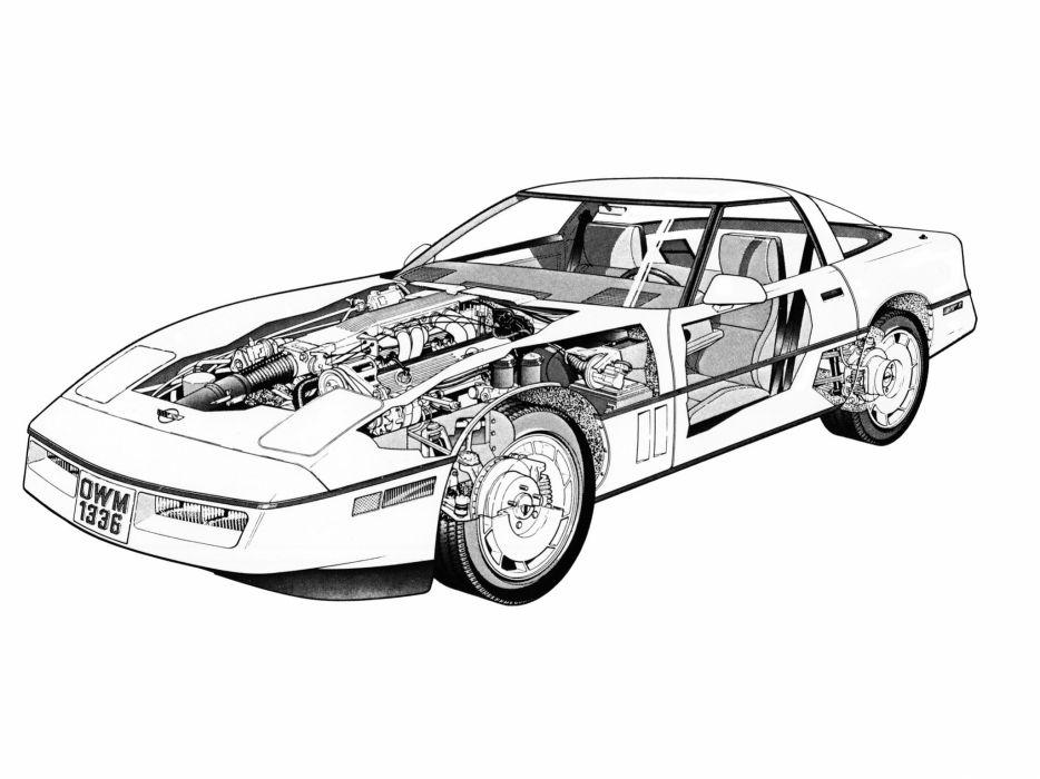 1990 Chevrolet Corvette ZR1 Coupe (C-4) supercar muscle interior engine  g wallpaper