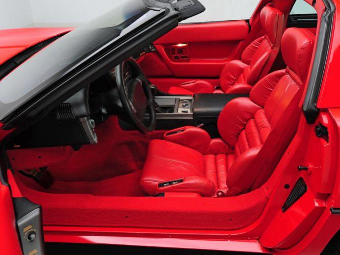 1990 Chevrolet Corvette ZR1 Coupe (C-4) supercar muscle interior g wallpaper