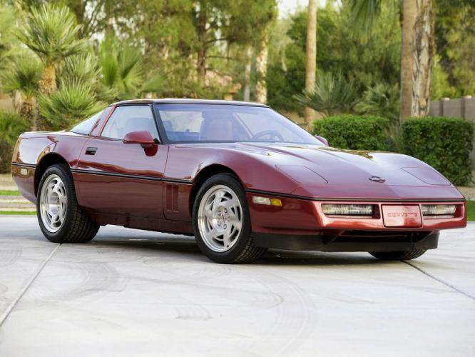 1990 Chevrolet Corvette ZR1 Coupe (C-4) supercar muscle hq wallpaper