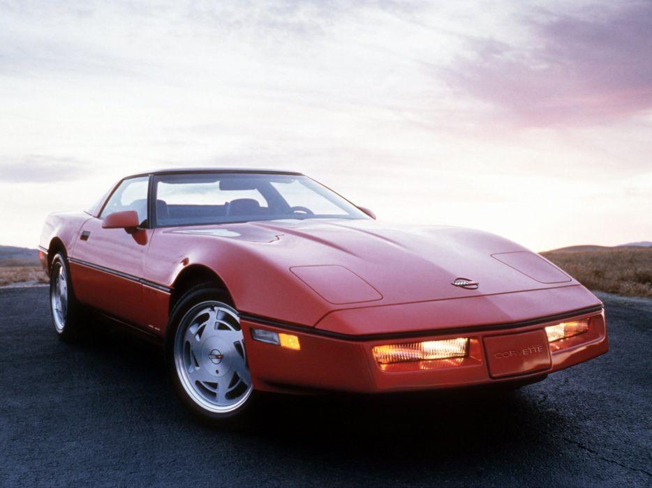 1990 Chevrolet Corvette ZR1 Coupe (C-4) supercar muscle  f wallpaper