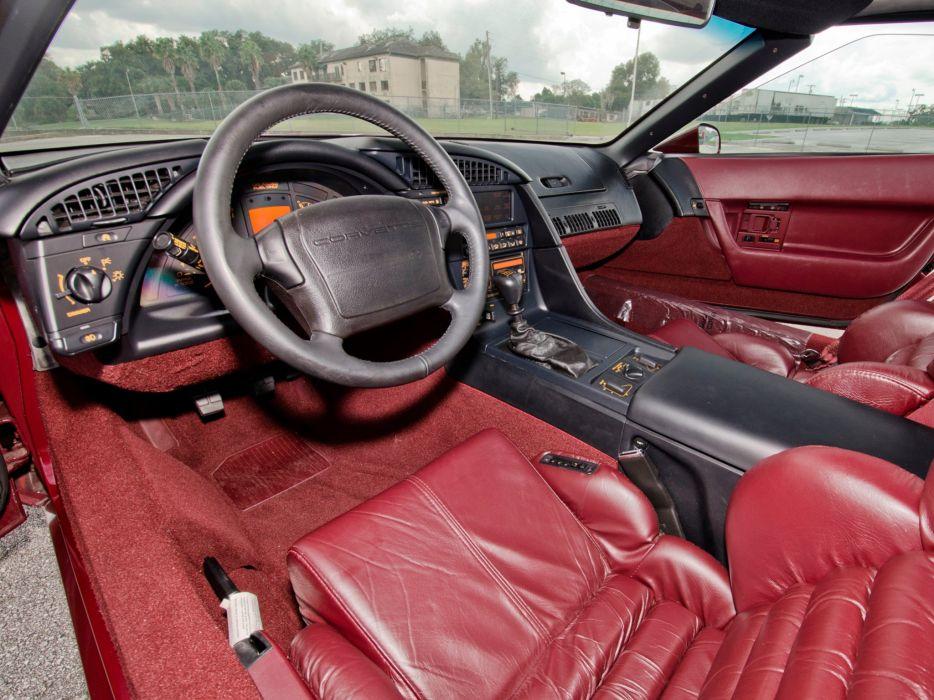 1993 Chevrolet Corvette ZR1 Coupe 40th Anniversary (C-4) supercar muscle interior  g wallpaper