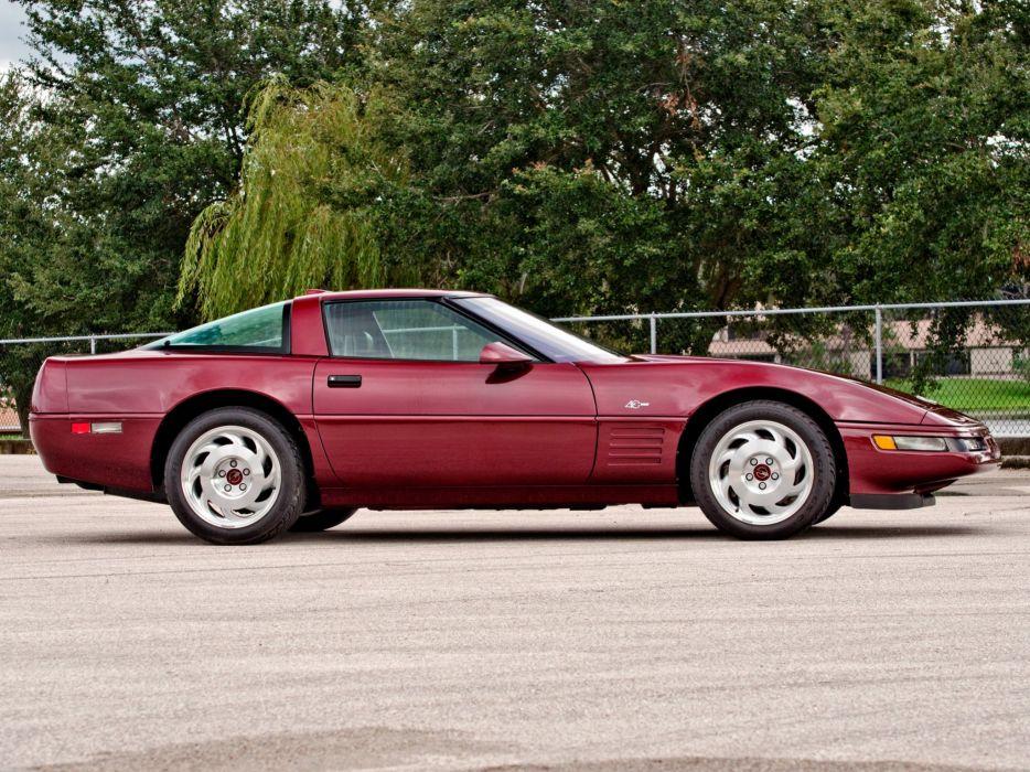 1993 Chevrolet Corvette ZR1 Coupe 40th Anniversary (C-4) supercar muscle  fs wallpaper