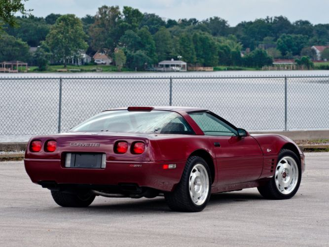 1993 Chevrolet Corvette ZR1 Coupe 40th Anniversary (C-4) supercar muscle f wallpaper