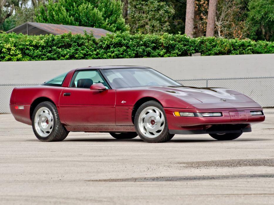 1993 Chevrolet Corvette ZR1 Coupe 40th Anniversary (C-4) supercar muscle   g wallpaper