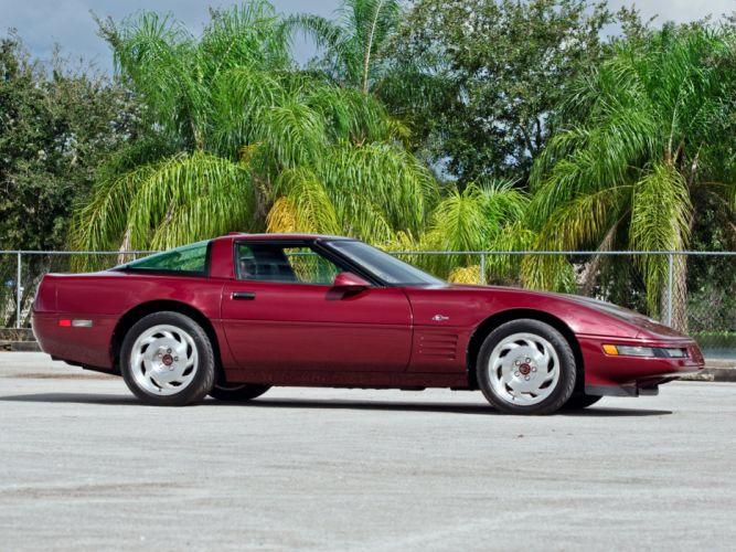 1993 Chevrolet Corvette ZR1 Coupe 40th Anniversary (C-4) supercar muscle f wallpaper