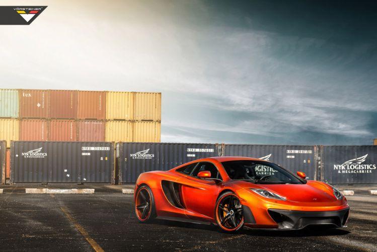 2014 Vorsteiner McLaren MP4 V-X Volcano-Orange supercar tuning h wallpaper