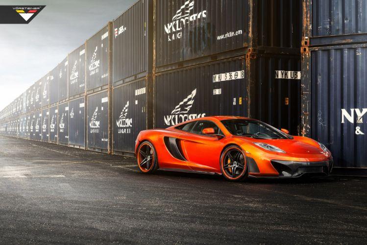 2014 Vorsteiner McLaren MP4 V-X Volcano-Orange supercar tuning g wallpaper