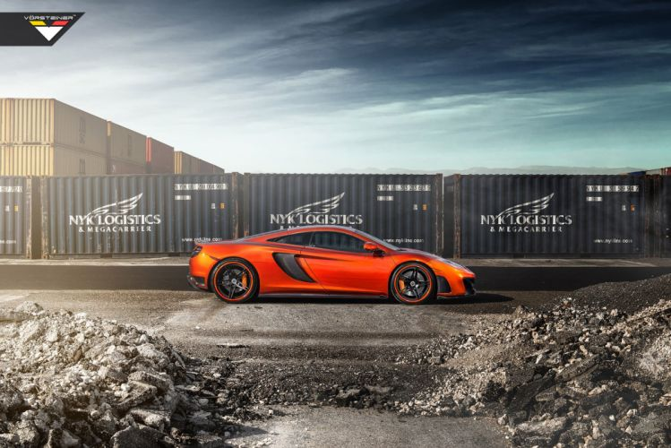 2014 Vorsteiner McLaren MP4 V-X Volcano-Orange supercar tuning h wallpaper