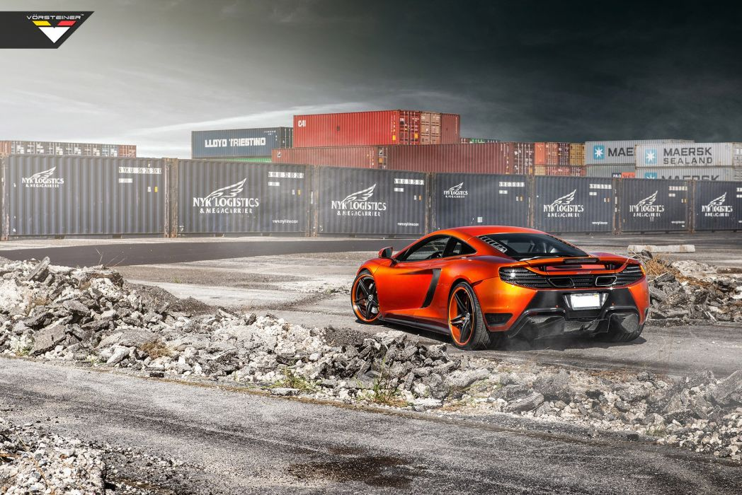 2014 Vorsteiner McLaren MP4 V-X Volcano-Orange supercar tuning   jf wallpaper