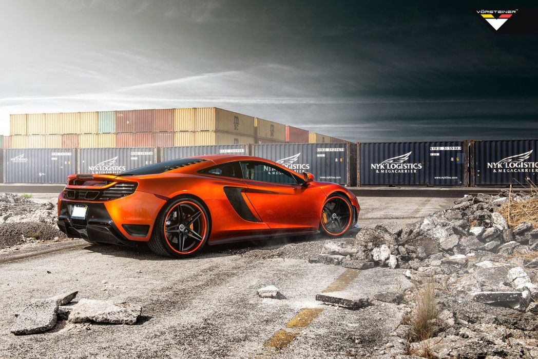 2014 Vorsteiner McLaren MP4 V-X Volcano-Orange supercar tuning   j wallpaper