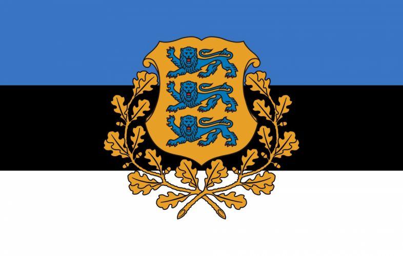 2000px-Presidential Flag of Estonia_svg wallpaper