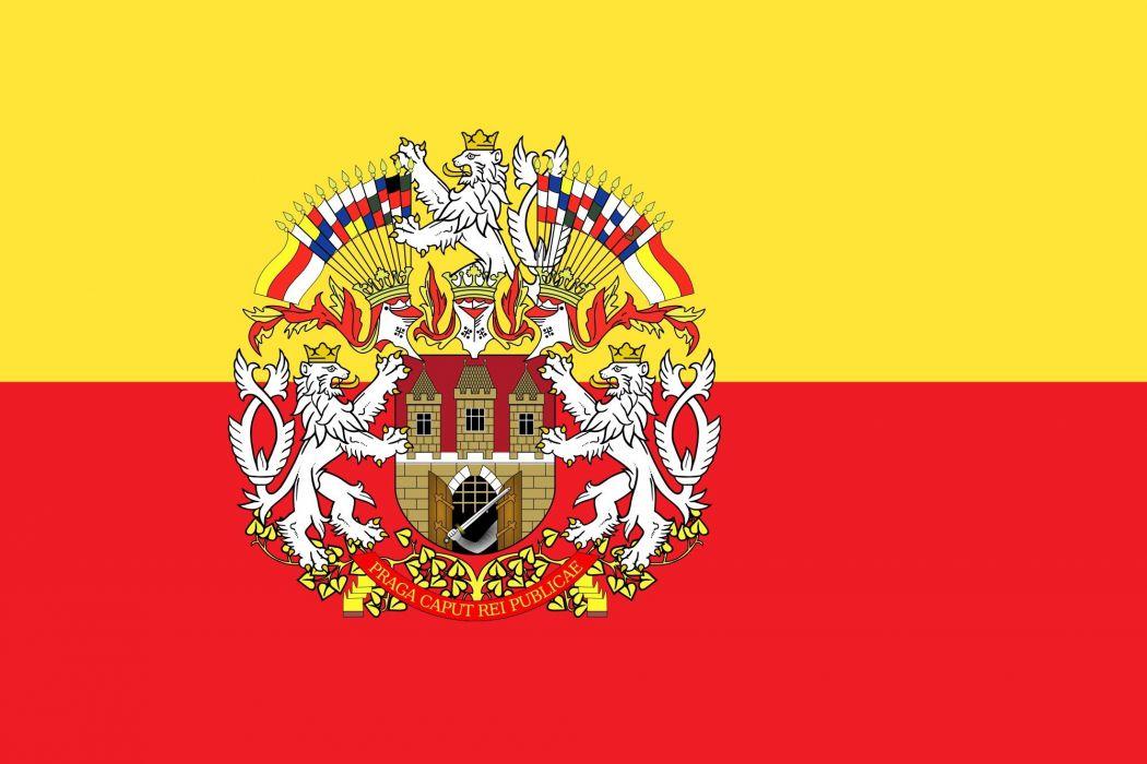 2000px-Prague flag with CoA_svg wallpaper