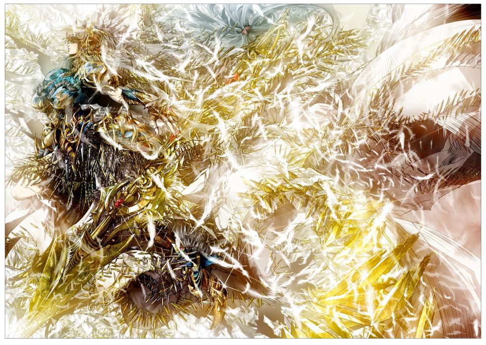 armor feathers lenneth valkyrie spear tanupo valkyrie profile weapon wallpaper