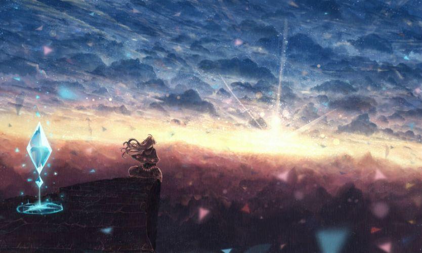 bou nin clouds original scenic sky wallpaper