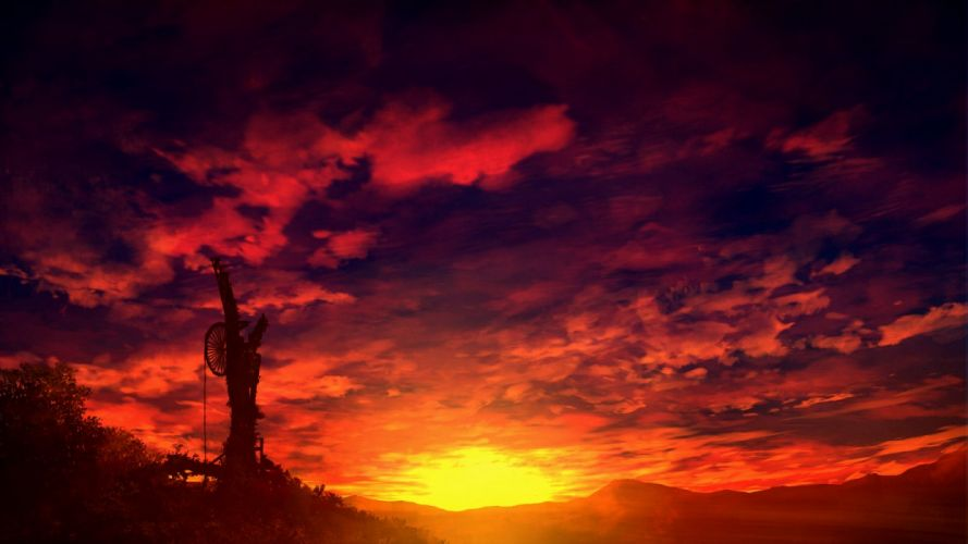 clouds mks nobody original scenic sky sunset wallpaper