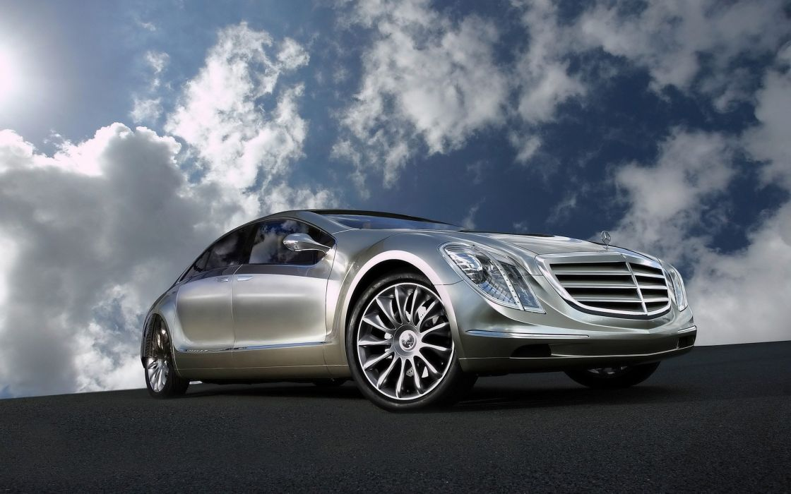 clouds cars Mercedes-Benz wallpaper