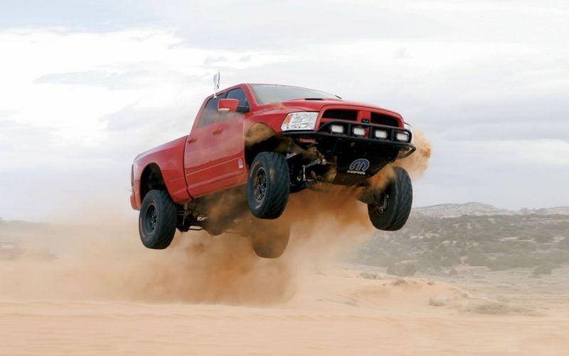 cars deserts jumping Dodge mopar vehicles offroad wallpaper