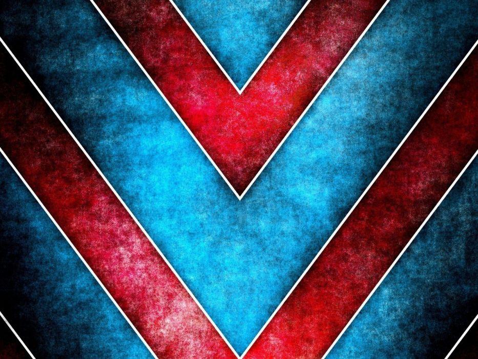 abstract blue red multicolor arrows wallpaper