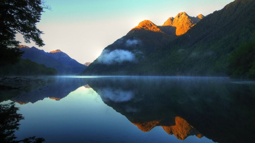 mountains landscapes nature lakes HDR photography reflections wallpaper