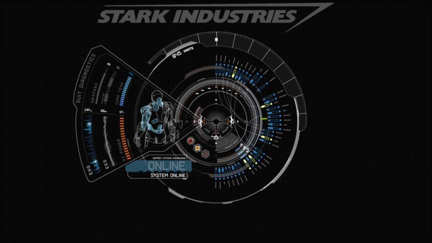 blue Iron Man Stark Industries wallpaper