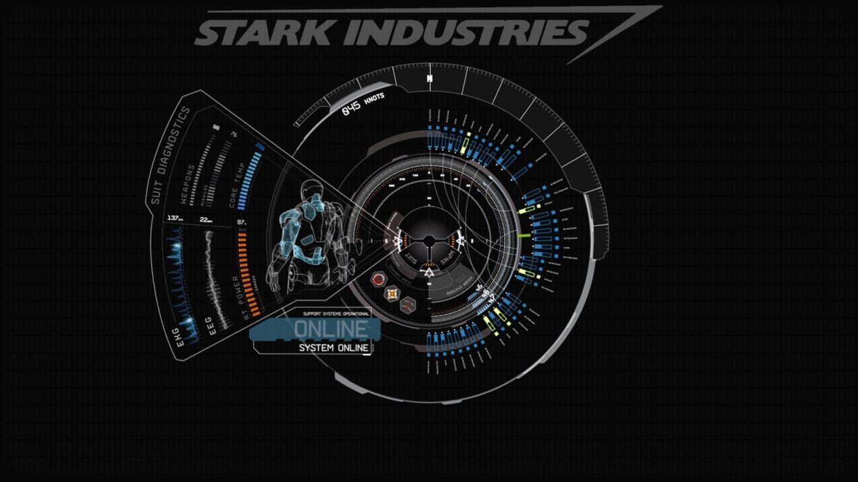 Blue iron man stark industries wallpaper 1920x1080 - Iron man wallpaper anime ...