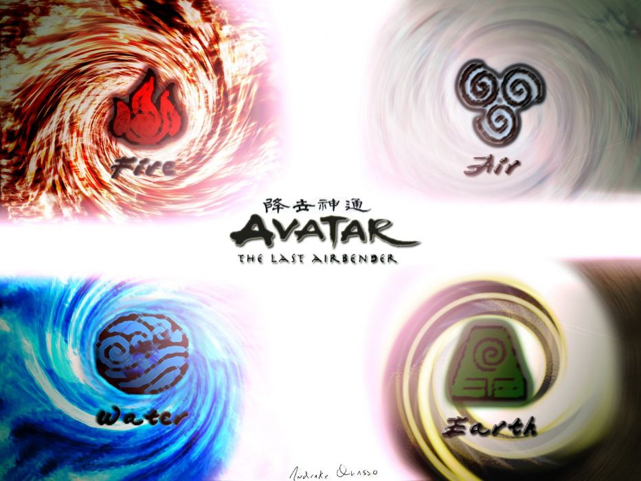 Water Fire Earth Avatar The Last Airbender Air Wallpaper