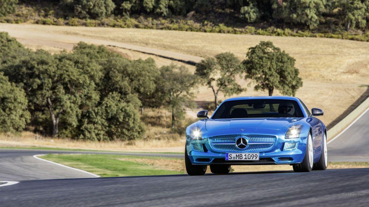 electric coupe SLS AMG Mercedes SLS AMG wallpaper