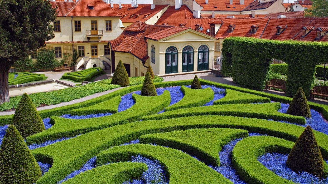 garden Prague Czech Republic wallpaper