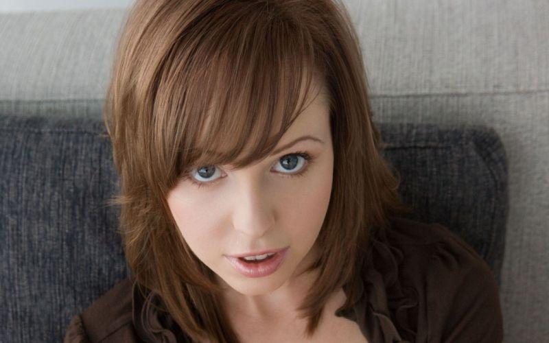 women close-up eyes blue eyes redheads pornstars Hayden Winters faces wallpaper