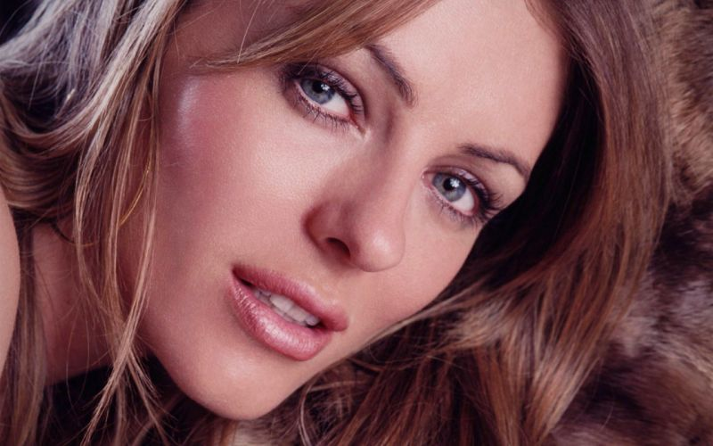 brunettes women close-up actress Elizabeth Hurley faces wallpaper